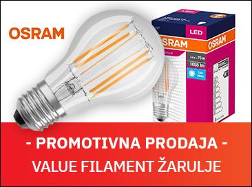 [promotivna prodaja] LED Value Filament OSRAM žarulja